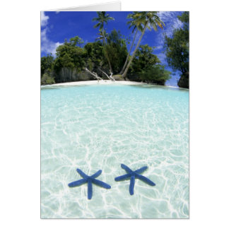 Étoiles de mer, îles de roche, Palaos Carte De Vœux