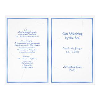 Étoiles de mer, modèle de programme de mariage prospectus 21,6 cm x 24,94 cm