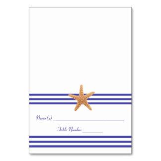 Étoiles de mer nautiques - carte d'escorte