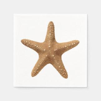 Étoiles de mer serviettes jetables