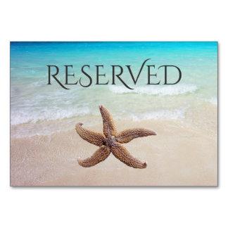 Étoiles de mer sur la carte réservée d'allocation