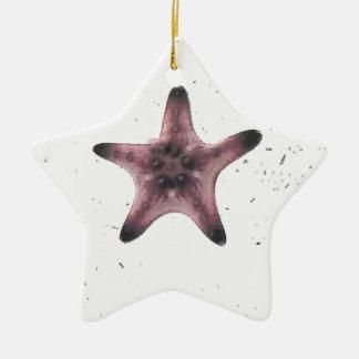 Étoiles de mer sur le motif blanc de minimalisme ornement étoile en céramique