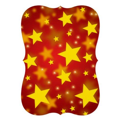 Étoiles de Noël Invitation Personnalisée
