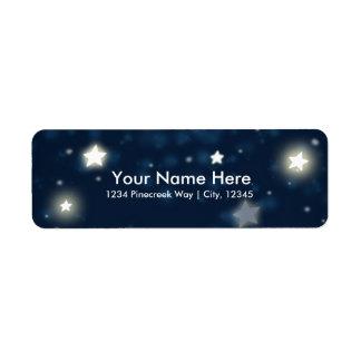 Étoiles de scintillement et étiquettes de adresse
