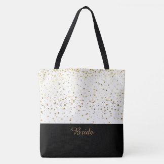 Étoiles d'or blanches et petites de sac