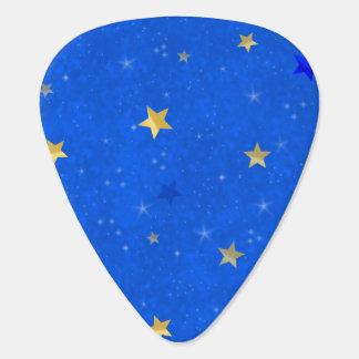Étoiles d'or de ciel bleu onglet de guitare