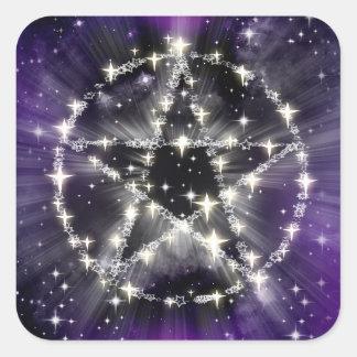 Étoiles et autocollants de pentagone étoilé