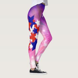 Étoiles et coeurs de résumé leggings