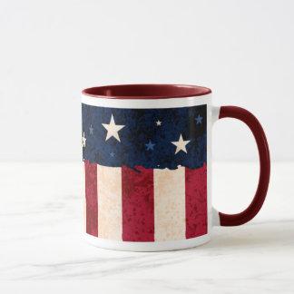Étoiles et drapeau des Etats-Unis de style d'art Mugs