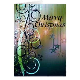 Étoiles et Noël de remous Joyeux Cartes