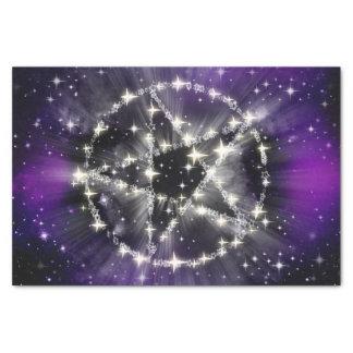 Étoiles et papier de soie de soie de pentagone
