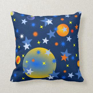 Étoiles et planètes célestes coussin