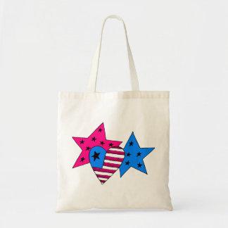 Étoiles et sac patriotiques de coeur
