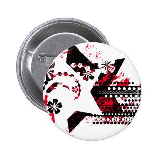 étoiles grunges badge rond 5 cm