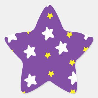 Étoiles heureuses pourpres sticker étoile