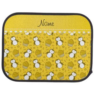 Étoiles jaunes nommées personnalisées de petits tapis de sol