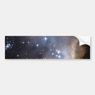 Étoiles lumineuses de NGC 602 de la manière laiteu Autocollant De Voiture