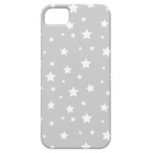 Étoiles mignonnes grises étuis iPhone 5