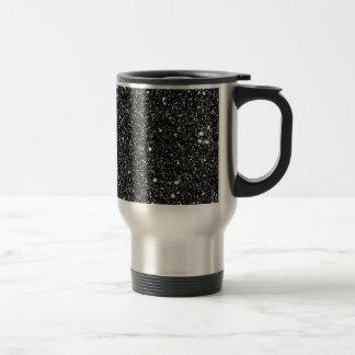 Étoiles noires d'étincelle mug de voyage