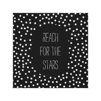 Étoiles noires et blanches toiles
