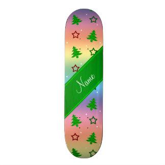 Étoiles nommées personnalisées de Noël d'arc-en-ci Skateboards Cutomisables