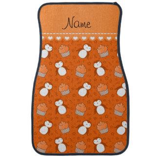 Étoiles oranges nommées personnalisées de petits tapis de sol