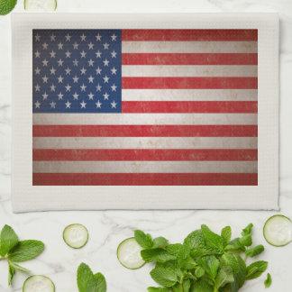 Étoiles patriotiques du drapeau américain 50 linges de cuisine