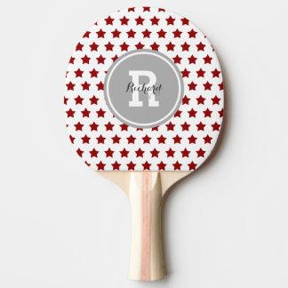 Étoiles personnalisées de rouge raquette tennis de table