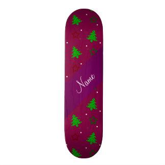 Étoiles pourpres personnalisées de Noël de prune n Skateoard Personnalisé