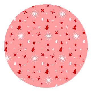 Étoiles rouges blanches d'arbres de Noël de rose Bristols