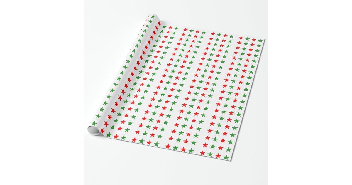 Toiles rouges et vertes de no l papier cadeau zazzle - Papier cadeau personnalisable ...