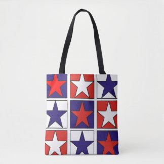 Étoiles tricolores patriotiques sac