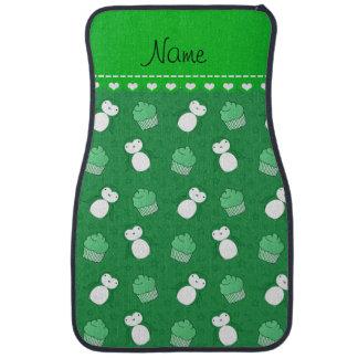 Étoiles vertes nommées personnalisées de petits tapis de sol