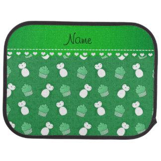 Étoiles vertes nommées personnalisées de petits tapis de voiture