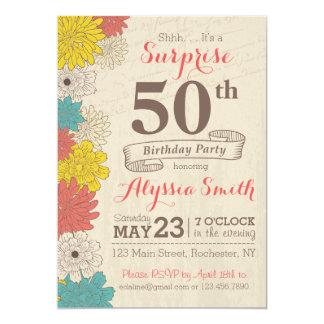 Étonnez la cinquantième invitation d'anniversaire