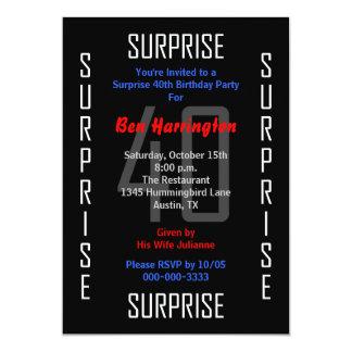 Étonnez la quarantième invitation 40 de fête