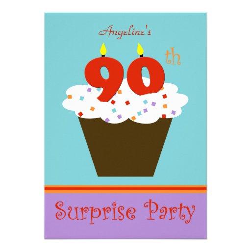 Étonnez la quatre-vingt-dixième invitation de fête