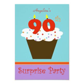 Étonnez la quatre-vingt-dixième invitation de fête carton d'invitation  12,7 cm x 17,78 cm