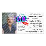 Étonnez la soixantième invitation de photo de fête photocartes personnalisées