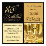 Étonnez les quatre-vingtième invitations de fête d