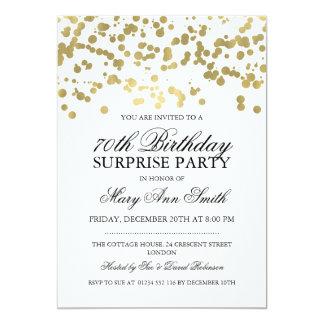Étonnez les soixante-dixième confettis de feuille carton d'invitation  12,7 cm x 17,78 cm
