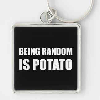 Être aléatoire est pomme de terre porte-clés