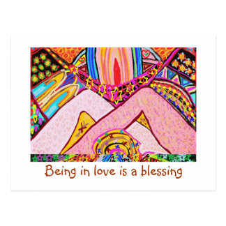 Être dans l'amour est une bénédiction cartes postales