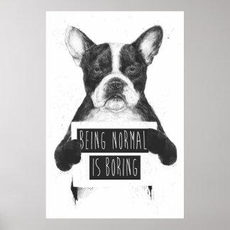 Être normal ennuie poster