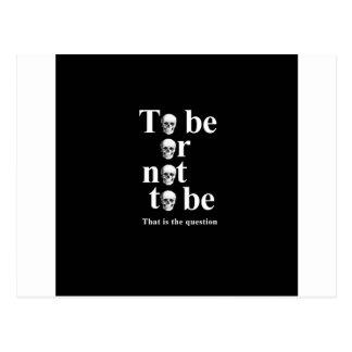 Être ou ne pas être carte postale