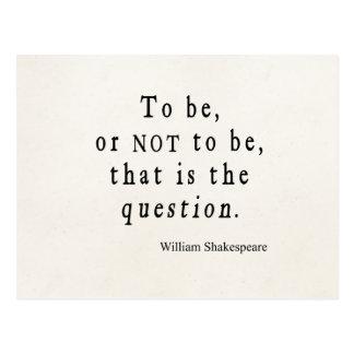 Être ou ne pas être cette citation de Shakespeare Carte Postale