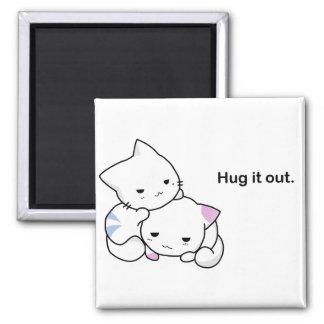 Étreignez-le bande dessinée drôle de chat de aimant