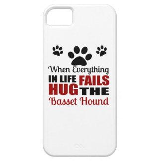 Étreignez le chien de Basset Hound Coque Barely There iPhone 5