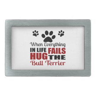 Étreignez le chien de bull-terrier boucles de ceinture rectangulaires
