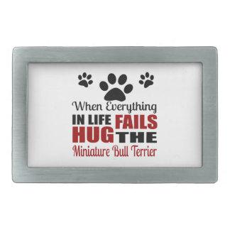 Étreignez le chien miniature de bull-terrier boucle de ceinture rectangulaire